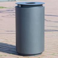 Abfallbehälter Urbanis 50l_rund-Stahlkorpus3