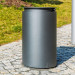Abfallbehälter Urbanis 50l_rund-Stahlkorpus