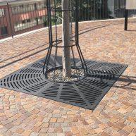 Baumrost quadratisch Radialdesign